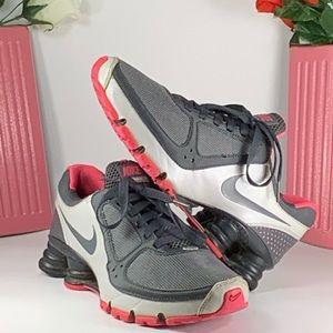 NIKE Shox Turbo 10+ Running Shoe Gray/Pink Size 7